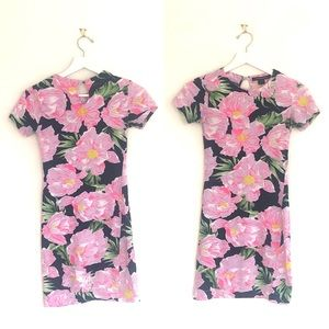 French Connection Floral Short Sleeve TShirt Dress